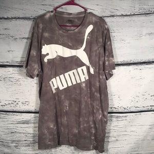 Puma Logo Graphic Gray & White Men's T-shirt XXL